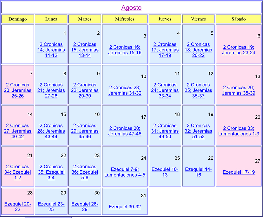 This entry was posted in CALENDARIO BIBLICO . Bookmark the permalink .