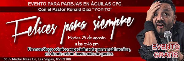 Evento para parejas el 29 de agosto en ACFC