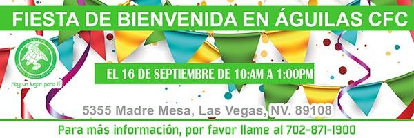 Fiesta de bienvenida el 16 de septiembre