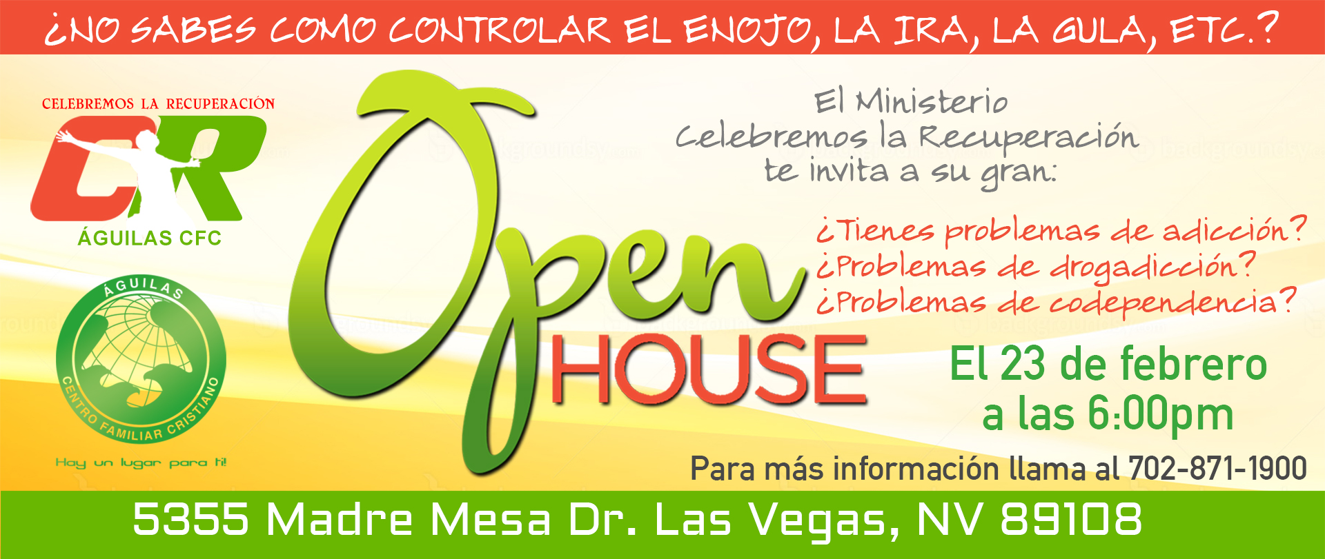 OPEN HOUSE Celebrando la Recuperación