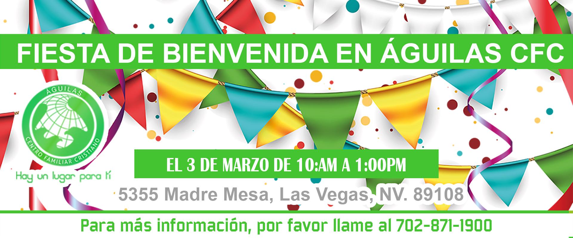Fiesta de Bienvenida el 3 de marzo
